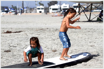 "Donations Make Our free surf camps possible"" caption ""Your donations fund many moments like these"